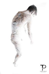 Surimpression - Homme - Nu - Paysage - Arbre - Male - Nude - Landscape - Trees