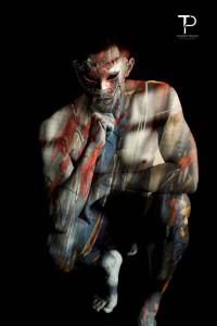 #surimpression #male #malemodel #model #nude #overprint